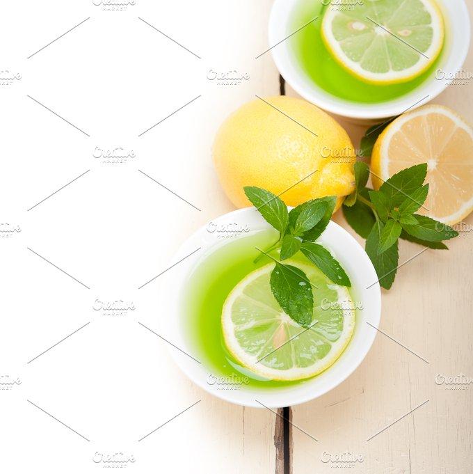 mint tea infusion withl emon 015.jpg - Food & Drink