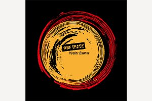 Grunge Tire Circle Frame