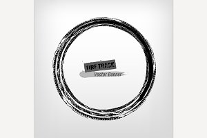 Tire track circle grunge frame