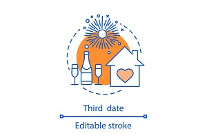Third date concept icon