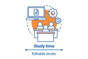 Study time concept icon