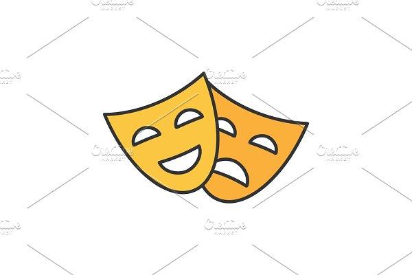 Theatre comedy tragedy emoji ~ Illustrations ~ Creative Market