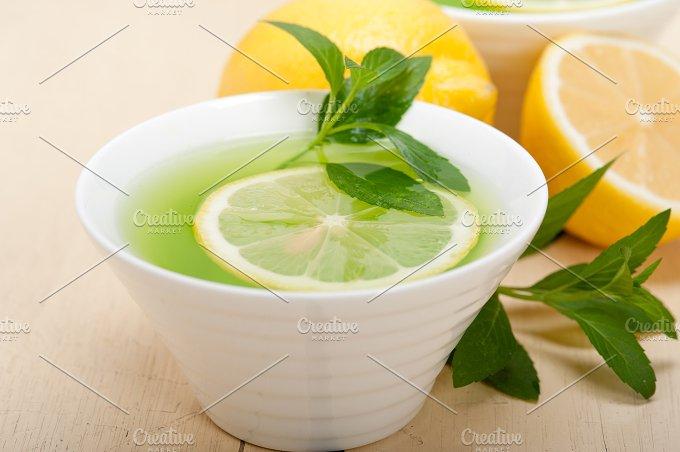 mint tea infusion withl emon 022.jpg - Food & Drink