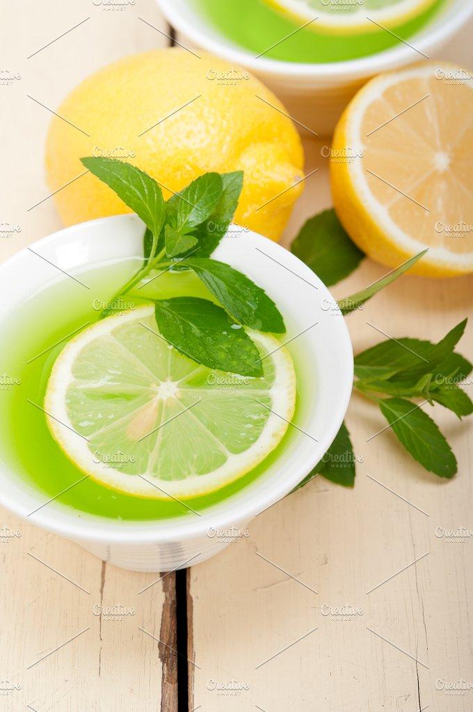 mint tea infusion withl emon 026.jpg - Food & Drink