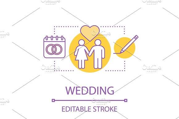 Wedding concept icon