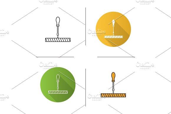 Screwdriver, turn screw icon