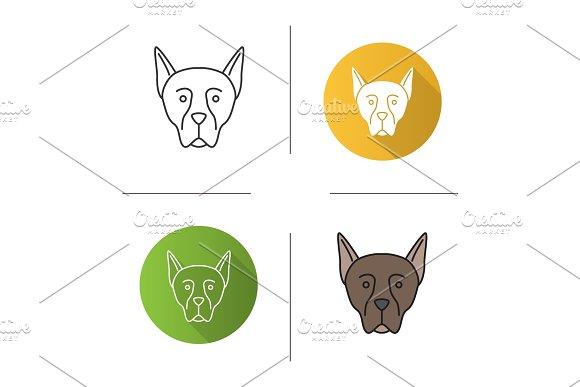 Doberman Pinscher icon in Icons