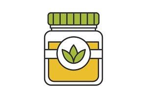 Tea jar color icon