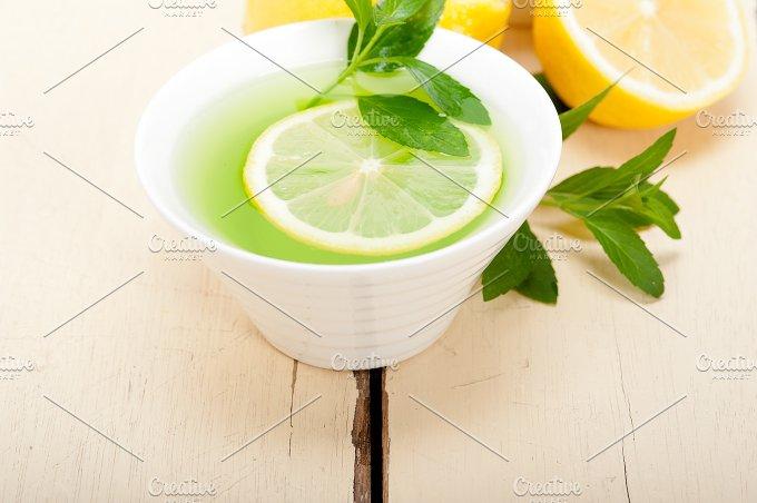 mint tea infusion withl emon 028.jpg - Food & Drink