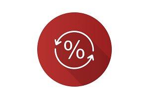 Percent conversion icon
