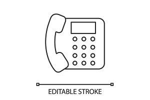 Landline phone linear icon