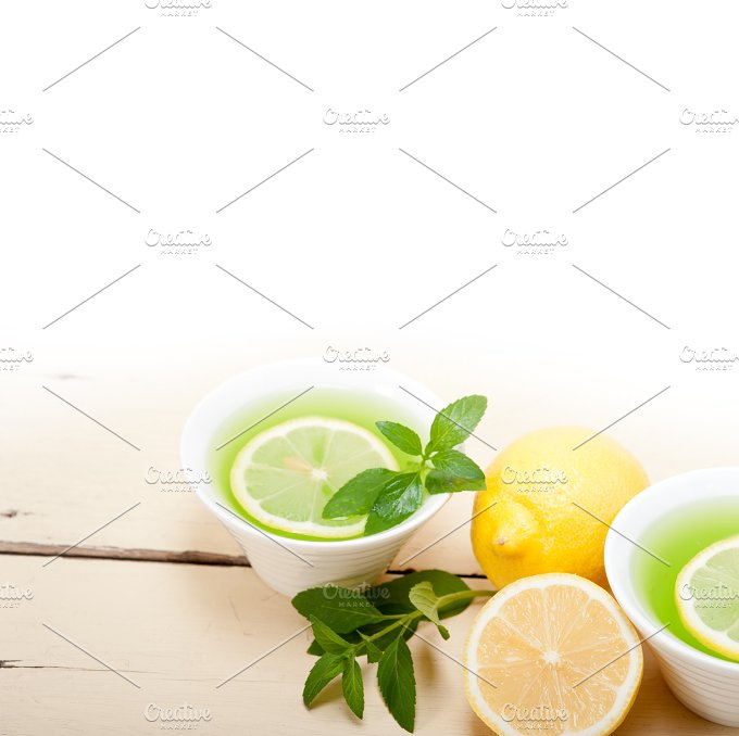 mint tea infusion withl emon 035.jpg - Food & Drink