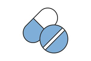 Pills color icon