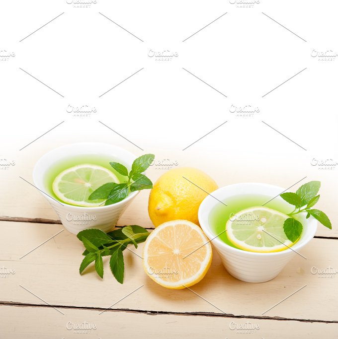 mint tea infusion withl emon 037.jpg - Food & Drink