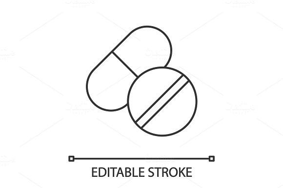 Pills linear icon