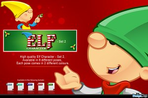 Elf Mascot - Set 2