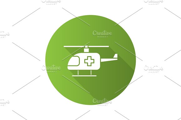 Medical helicopter icon in Icons