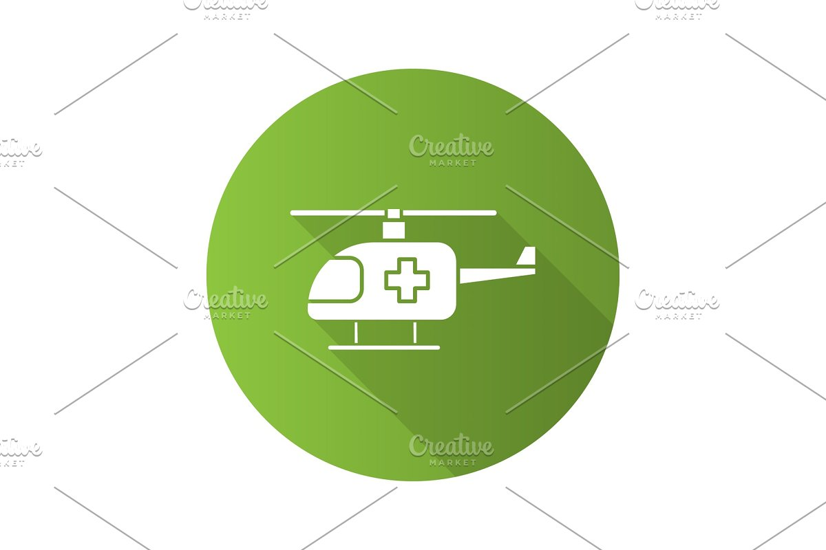 Medical helicopter icon in Graphics - product preview 8