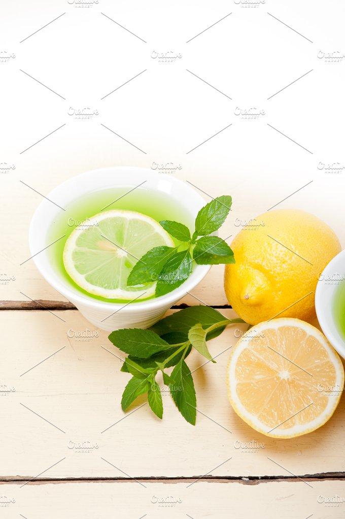 mint tea infusion withl emon 040.jpg - Food & Drink