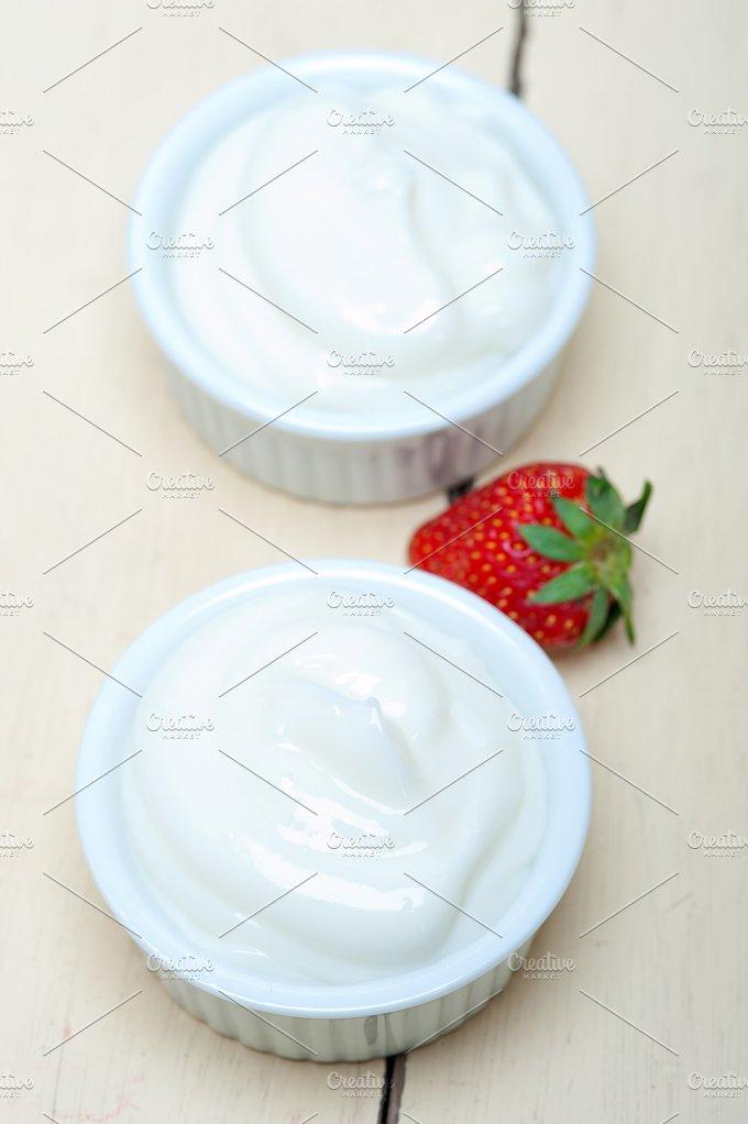 Greek organic yogurt and strawberries 001.jpg - Food & Drink