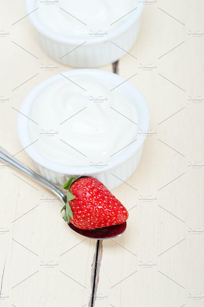 Greek organic yogurt and strawberries 004.jpg - Food & Drink