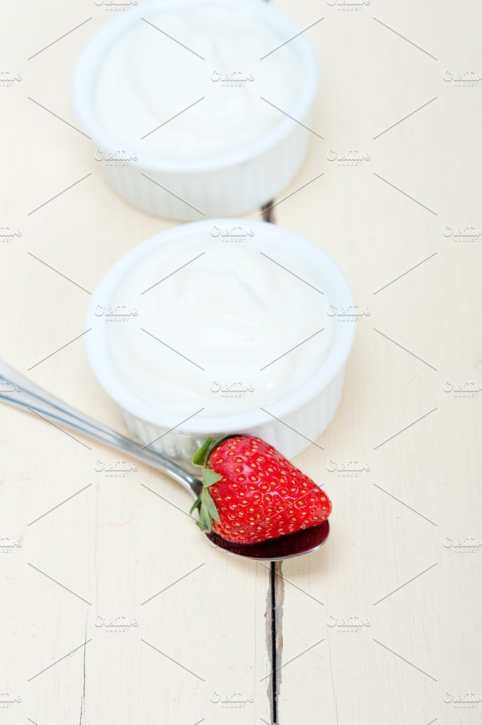 Greek organic yogurt and strawberries 005.jpg - Food & Drink