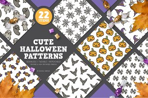 30%OFF !! Cute Halloween Patterns