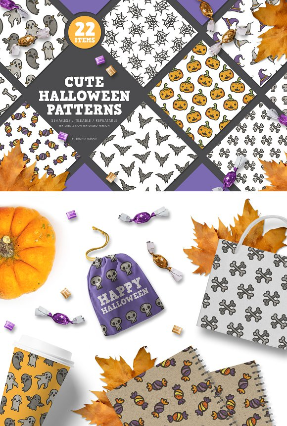 Pattern Pack - Cute Halloween Party in Patterns