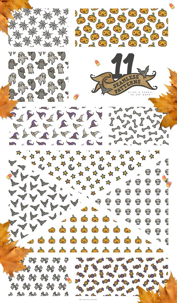 Pattern Pack - Cute Halloween Party in Patterns - product preview 2