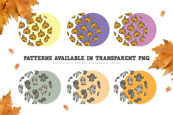 Pattern Pack - Cute Halloween Party in Patterns - product preview 3