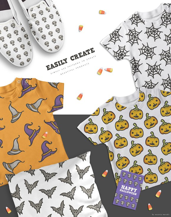 Pattern Pack - Cute Halloween Party in Patterns - product preview 4
