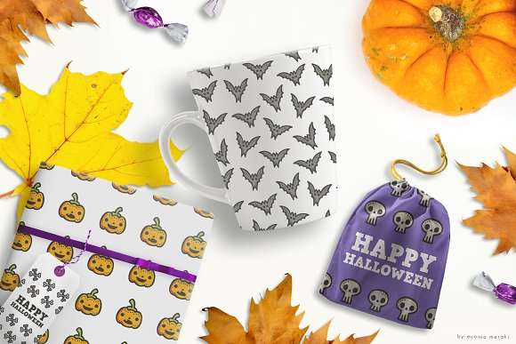 Pattern Pack - Cute Halloween Party in Patterns - product preview 5