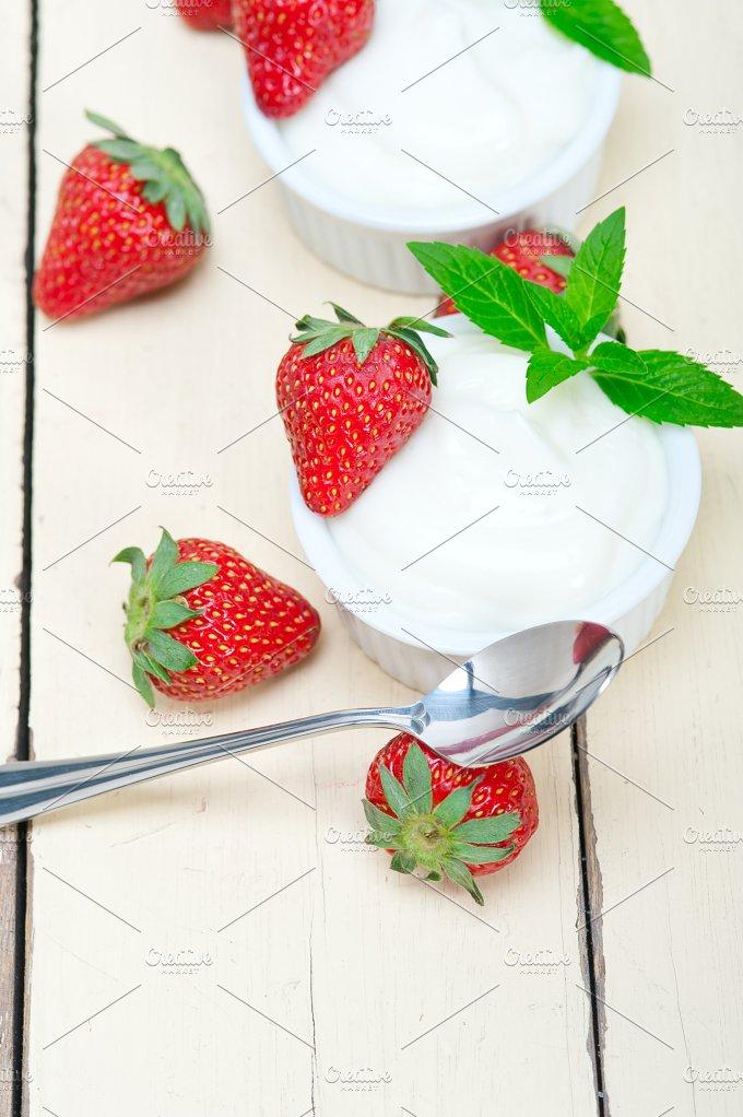 Greek organic yogurt and strawberries 018.jpg - Food & Drink