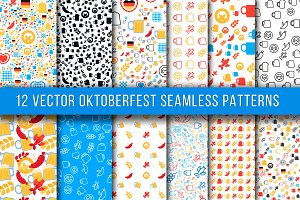12 Oktoberfest Seamless Patterns