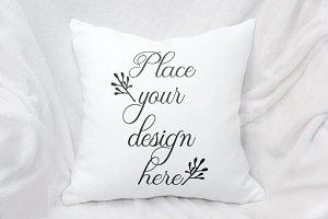 Square pillow mockup cushion mock up
