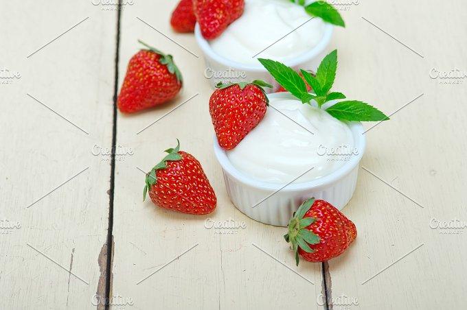 Greek organic yogurt and strawberries 027.jpg - Food & Drink