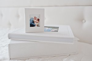Elegant wedding photobooks or photo