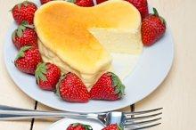 heart shape cheesecake and strawberries 028.jpg