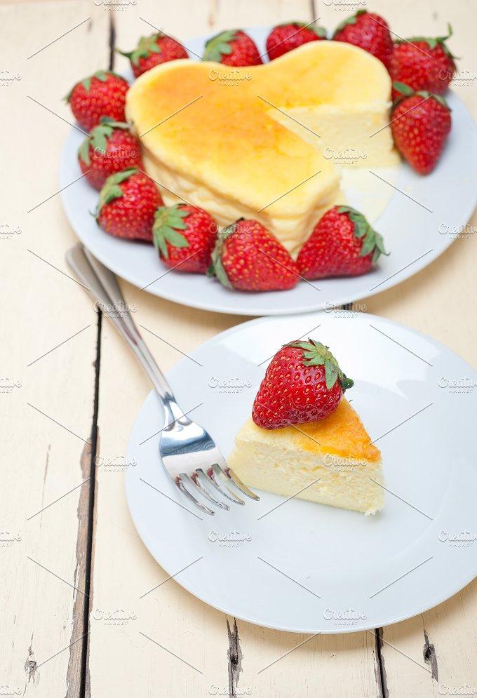 heart shape cheesecake and strawberries 031.jpg - Food & Drink