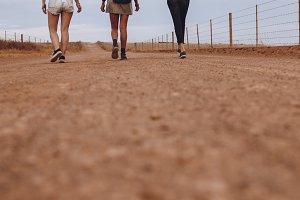 Female friends walking