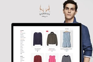 Barisan Ecommerce Website Template