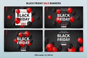 Black Friday promo web banners