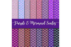 Purple & Mermaid Scales Paper Pack