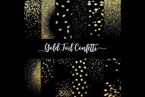 Gold Foil Confetti Overlay Clipart