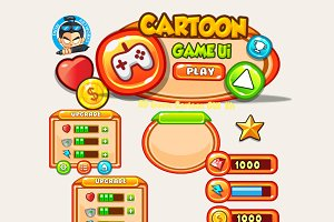 Cartoon Game Ui Set 09