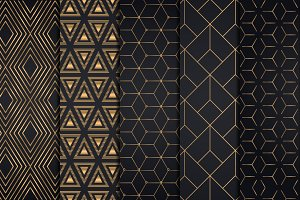 Golden Geometric Backgrounds