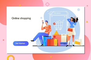 Online shopping. E commerce and