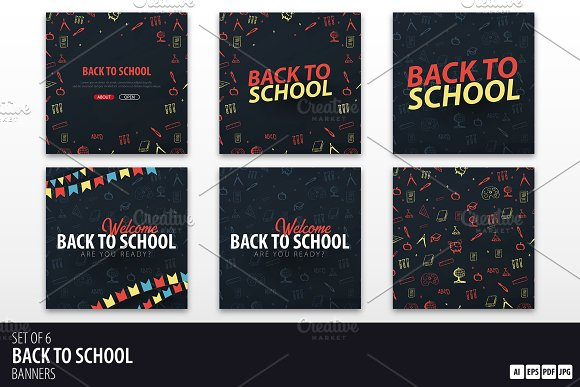 Back to School Social banners
