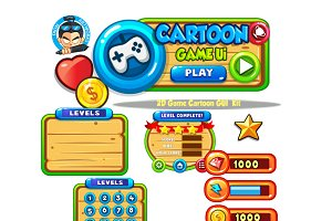 Cartoon Game Ui Set10