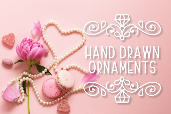 Ornament Font - Hand Drawn Swooshes